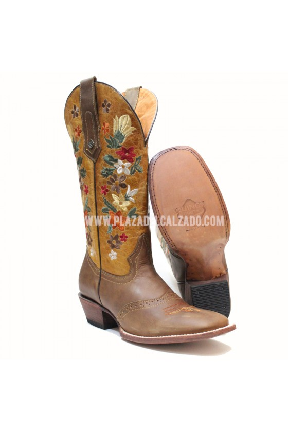 Women's Flower Brown Rodeo...