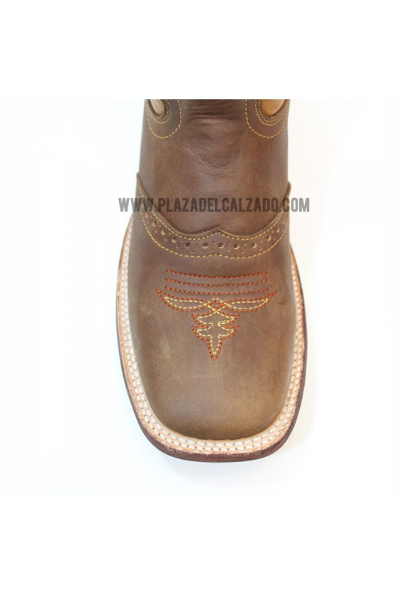 Women's Flower Brown Rodeo Cowgirl Boots