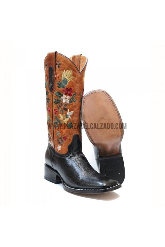 Women's Flower Black Rodeo...