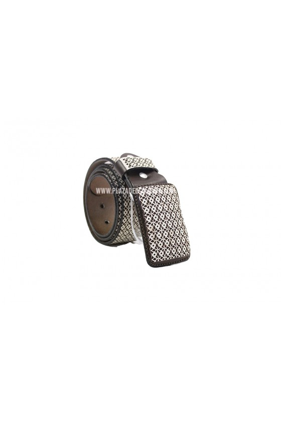Men's Charro Belt Full Pattern Belt