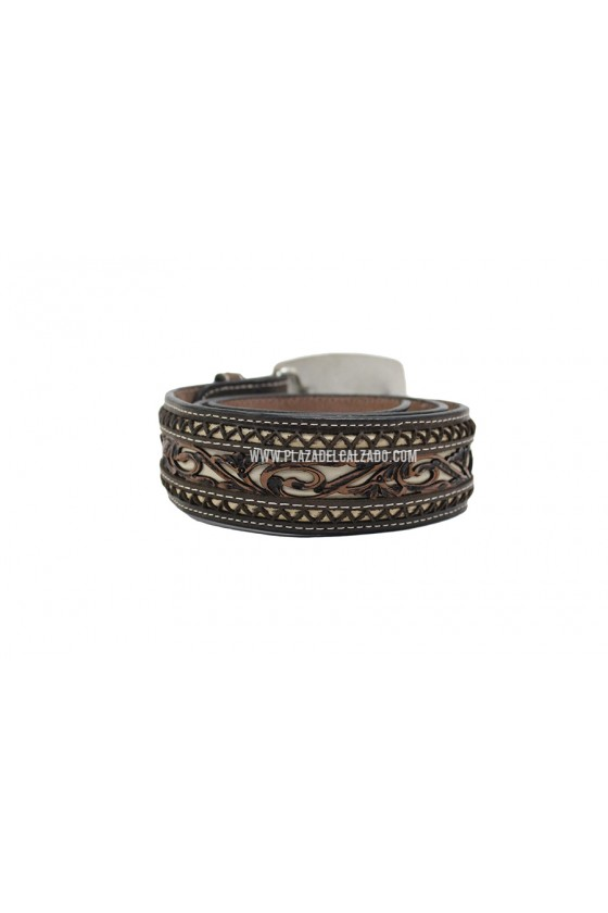 Men's Vaquero Belt Laser Cut Western Pattern