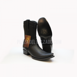 King Exotic Black Zipper Boot